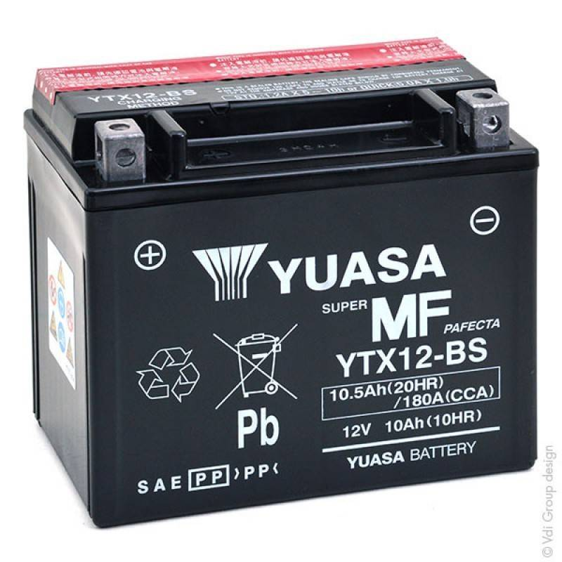 Batterie YUASA YTX12-BS YTX12-BS YUASA 77,52€