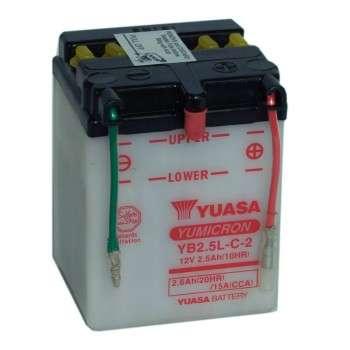 Batterie YUASA YB2.5L-C YB2.5L-C YUASA 31,20€