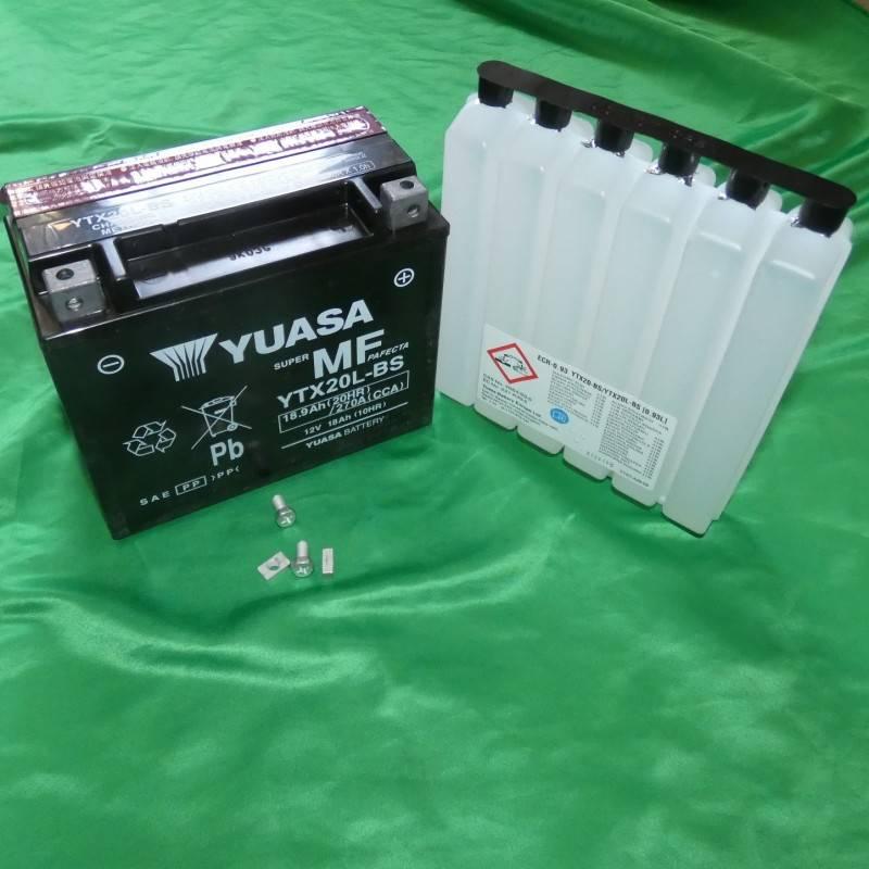 Batterie YUASA YTX20L-BS a acide sans entretien