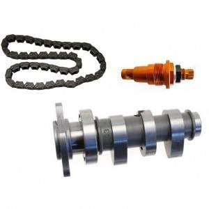 Arbre a cam, chaine de distribution et tendeur de chaine pour KTM moteur 4 temps