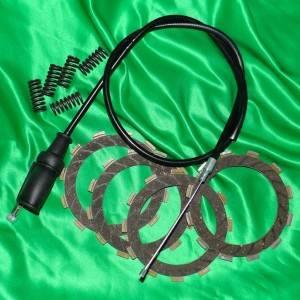 Disque d'embrayage, garnis, lisse ressort, cable,... pour KAWASAKI 2 temps KE, KX, KDX, KMX, KS,...