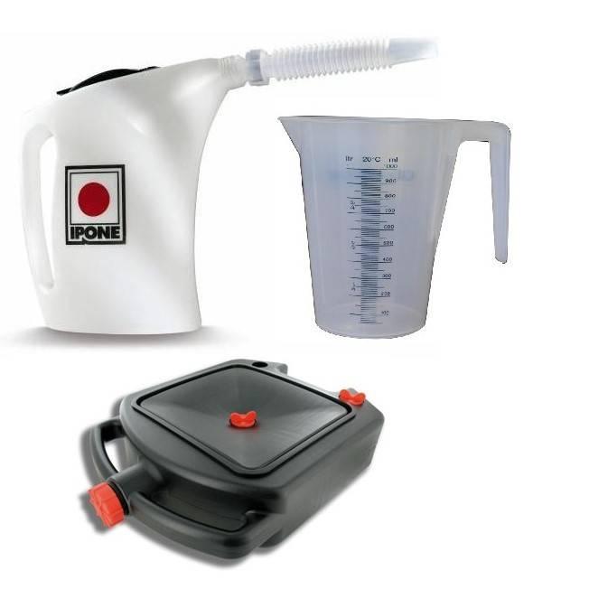 Outil pour produit liquides et contenants pour VOR 4 temps